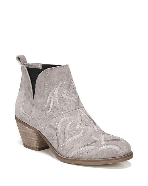 Fergie - Multicolor Lexy Block Heel Leather Bootie - Lyst