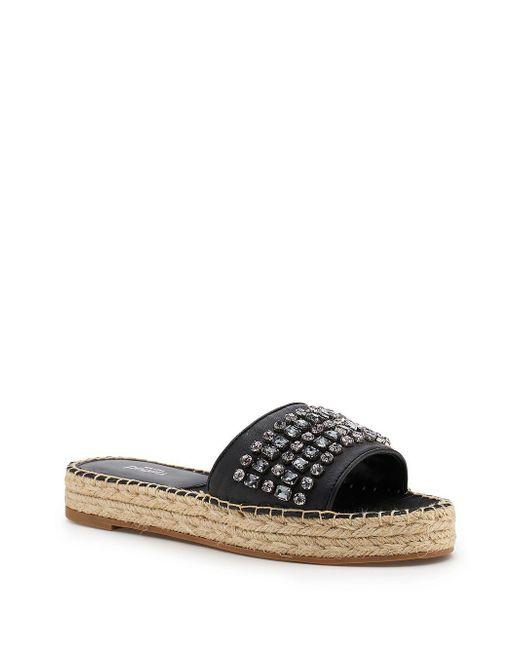 Botkier - Black Julie Leather Jeweled Espadrille Sandals - Lyst
