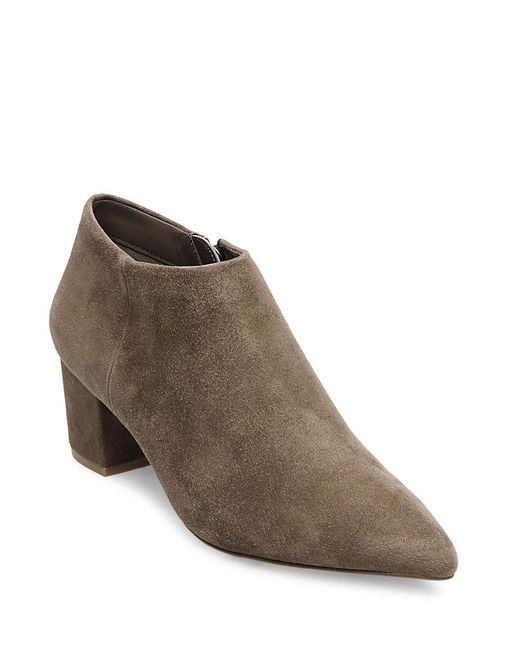 Steven by Steve Madden - Brown Suede Ankle Boots - Lyst