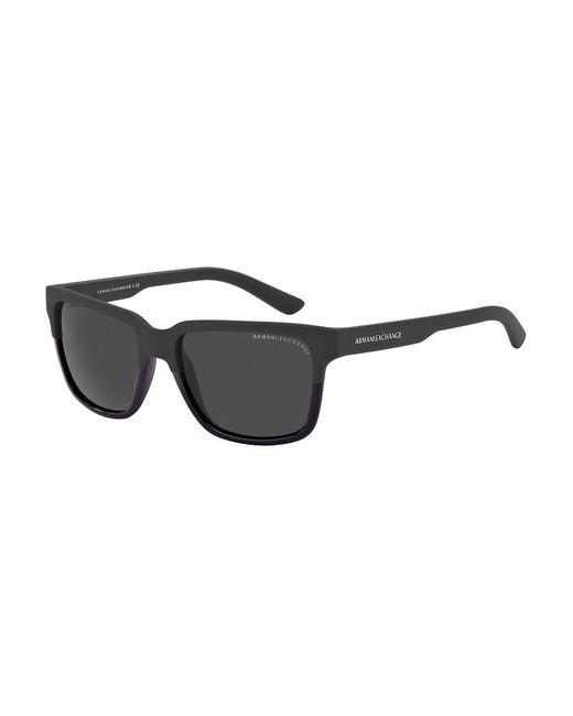 Armani Exchange - Black Wayfarer Sunglasses for Men - Lyst
