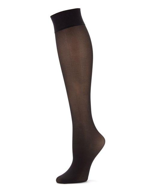 Hue - Black Revitalizing Opaque Knee Hi Socks - Lyst