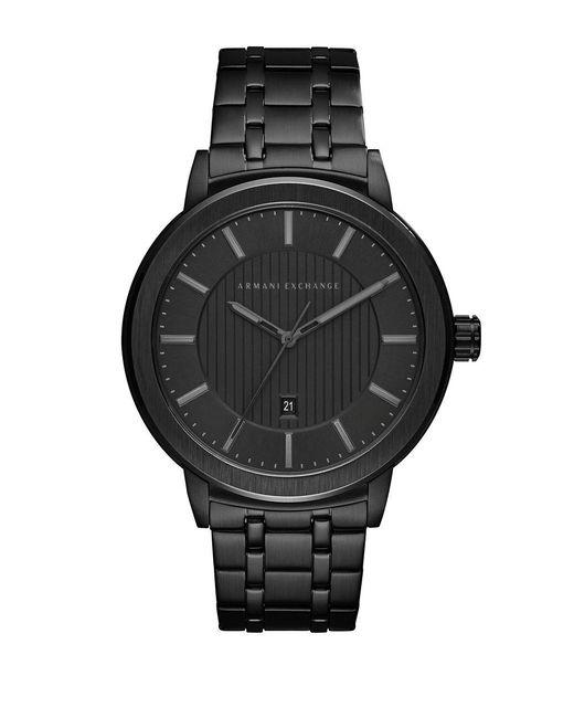 Armani Exchange - Black Bracelet Strap Watch for Men - Lyst