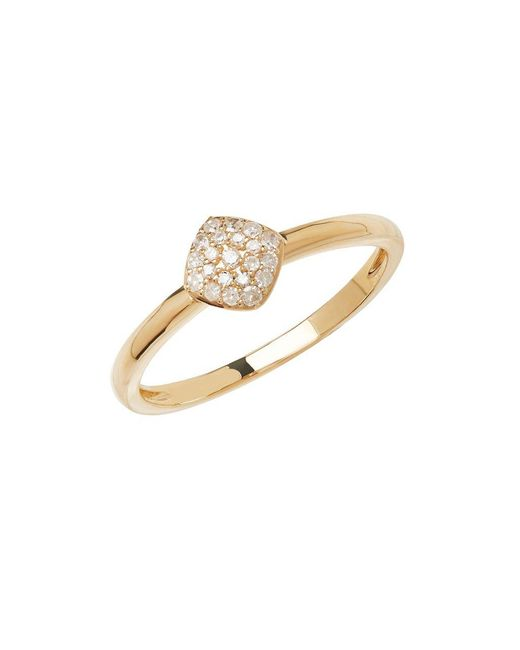 Lord & Taylor - Metallic 14kt Yellow Gold And Diamond Ring - Lyst