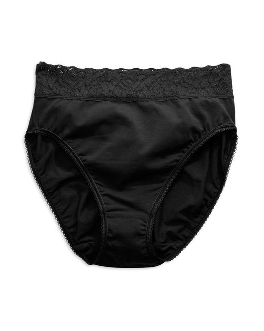 Wacoal - Black Cotton Suede High-cut Brief - Lyst