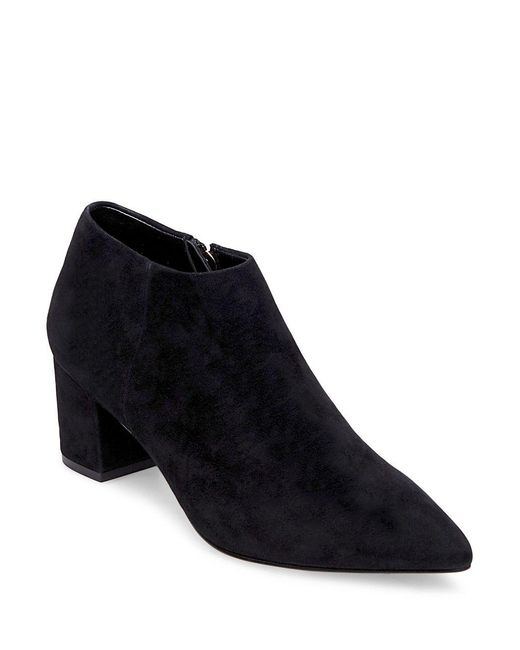 Steven by Steve Madden - Black Suede Ankle Boots - Lyst