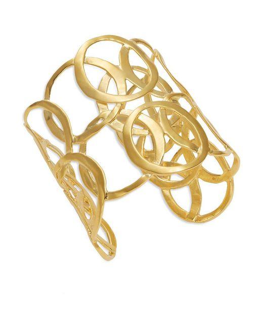 Kenneth Jay Lane Metallic Scroll Cuff Bracelet