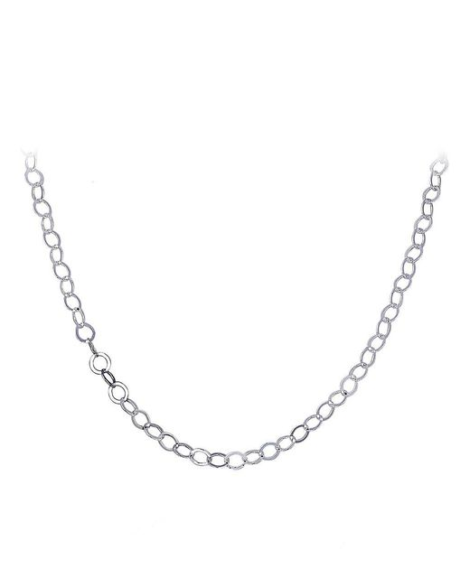 Lord & Taylor Metallic Sterling Silver Chain Necklace