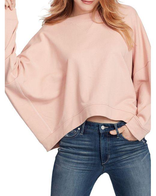 Ella Moss - Blue Sam Dolman-sleeve Cotton Sweater - Lyst