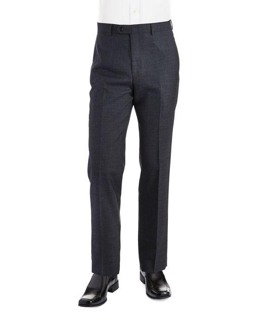 Lauren by Ralph Lauren - Multicolor Classic Fit Mid-weight Flat-front Wool Trouser Pants for Men - Lyst