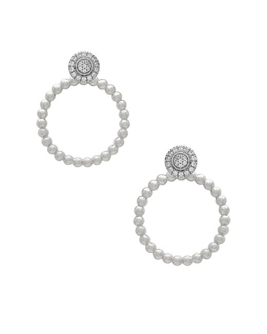 Lord & Taylor - Metallic Diamond And Sterling Silver Stud Earrings - Lyst