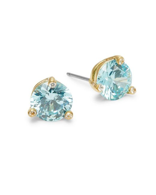 Kate Spade - Blue Rise And Shine Small Stud Earrings - Lyst