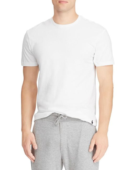 028d26ea3 Polo Ralph Lauren Tall 2-pack Classic-fit Crewneck T-shirts in White ...