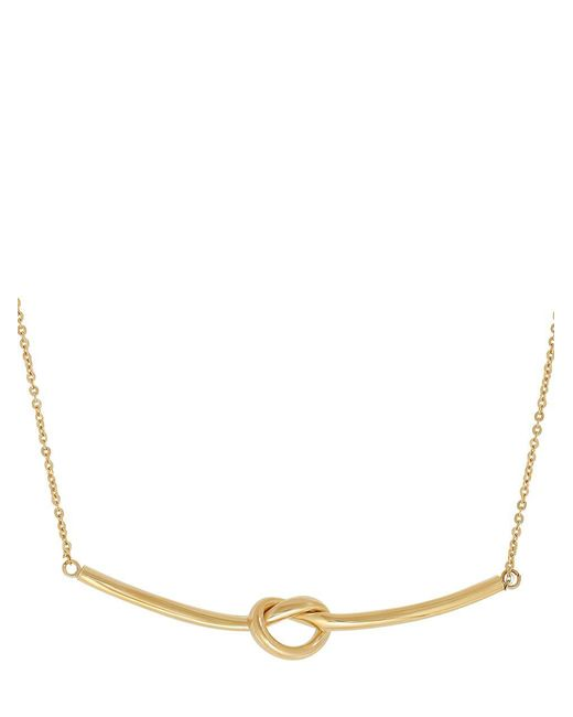 Lord & Taylor - Metallic 14k Yellow Gold Knot Pendant Necklace - Lyst