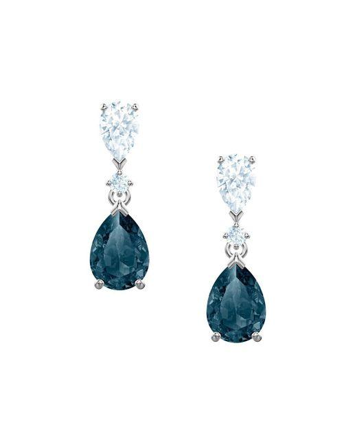Swarovski Metallic Vintage Crystal Drop Earrings