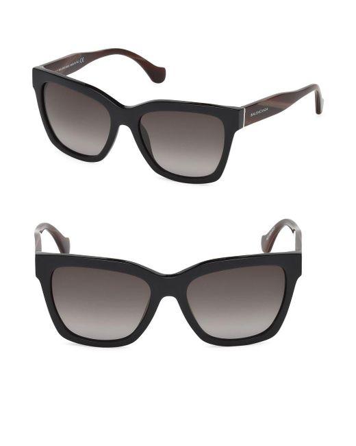 36d1d8f59f0e1 Balenciaga 55mm Square Sunglasses in Black - Save 73% - Lyst