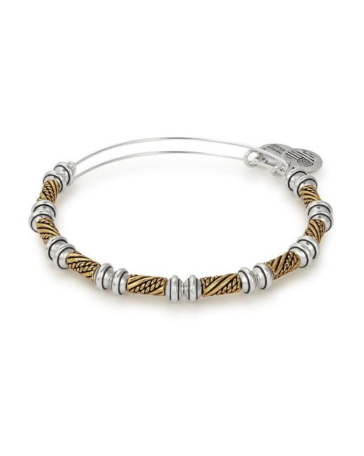 ALEX AND ANI - Metallic Quill Two-tone Beaded Bangle - Lyst