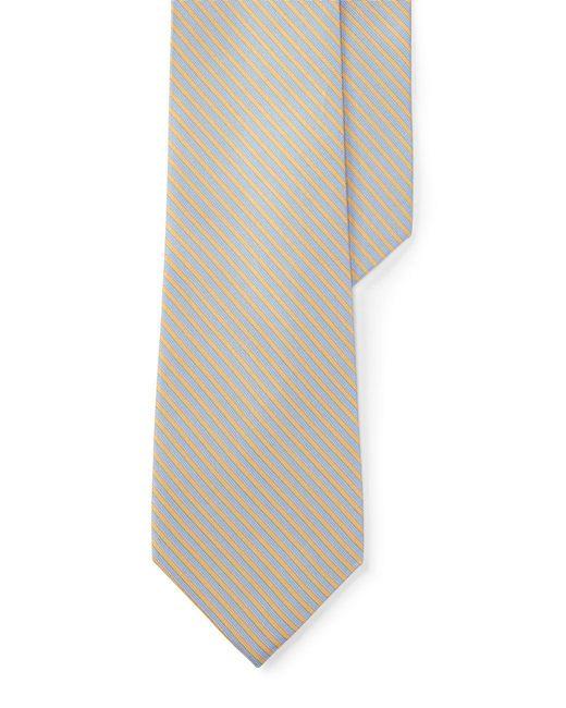 Lauren by Ralph Lauren - Multicolor Striped Silk-blend Tie for Men - Lyst