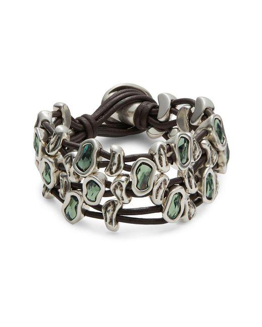 Uno De 50 - Metallic Sweet Danger Leather Strands Bracelet - Lyst