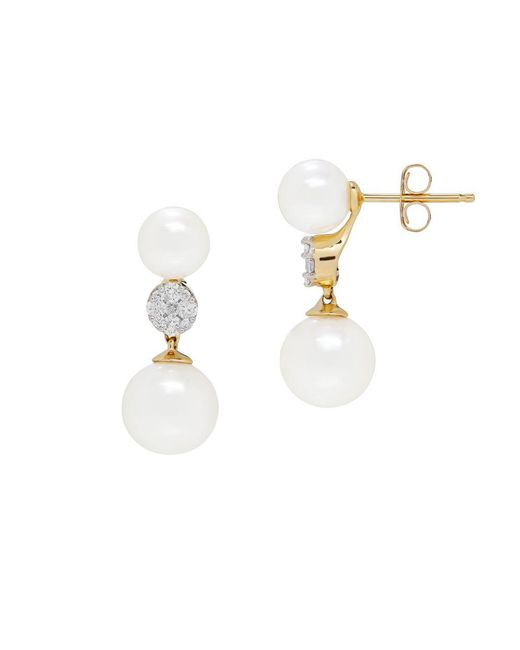 Lord & Taylor - 6 - 6.6mm And 8 - 8.5mm White Round Freshwater Pearl - Lyst