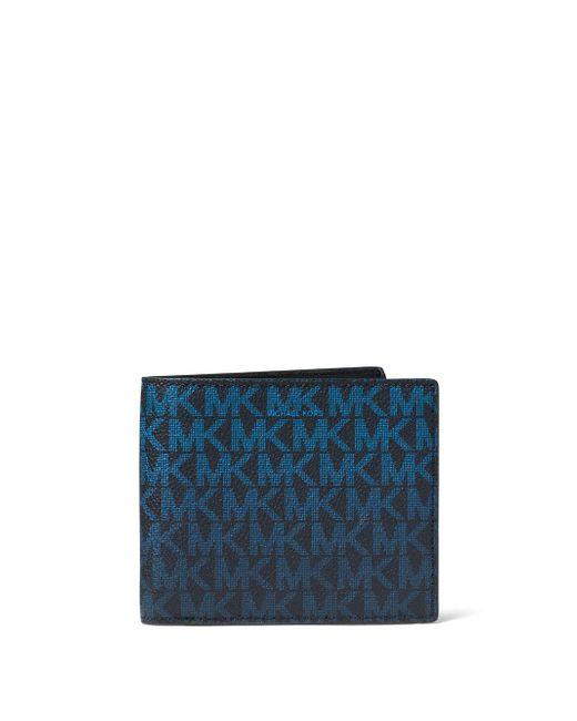 Michael Kors - Blue Jet Set Monogram Rfid-protection Wallet for Men - Lyst