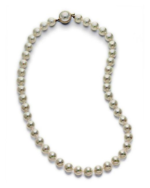 Majorica White Organic Man-made Pearl Necklace