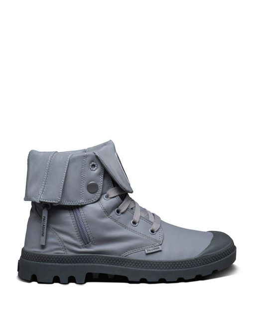 Palladium - Gray Baggy Zip On Ankle Boots - Lyst