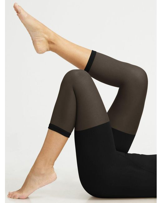 Spanx - Black In Power Line Super-high Footless Shaper - Lyst
