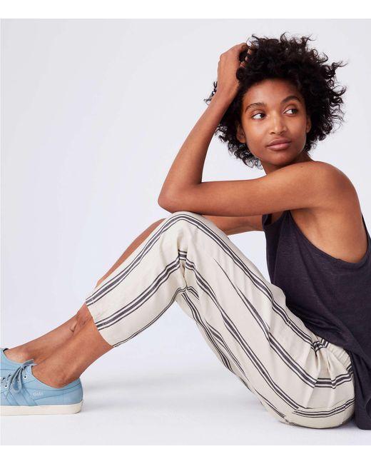 Lou & Grey - Black Drawstring Pants - Lyst