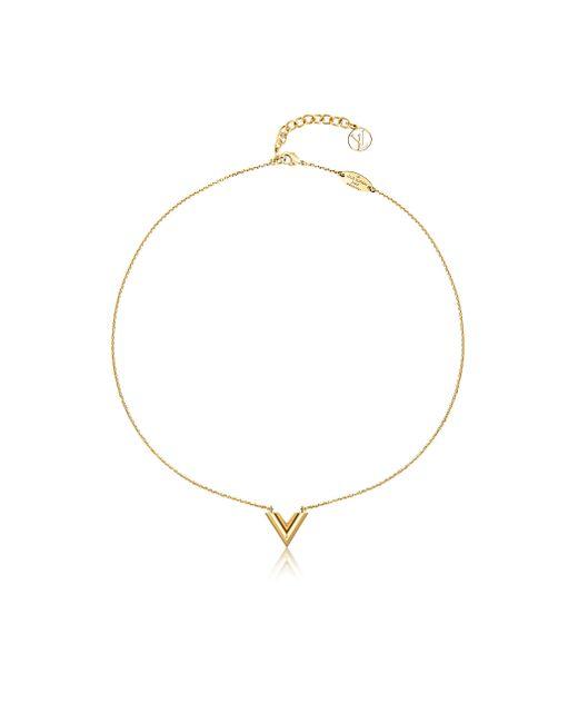 Louis Vuitton | Metallic Essential V Necklace | Lyst