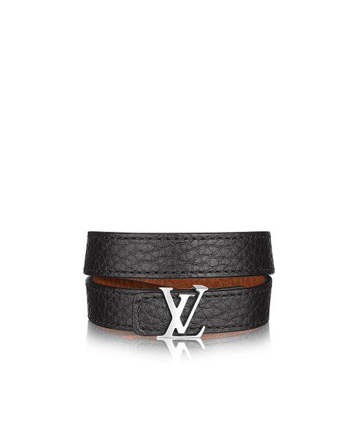 Louis Vuitton | Black Lv Initiales Reversible Bracelet for Men | Lyst