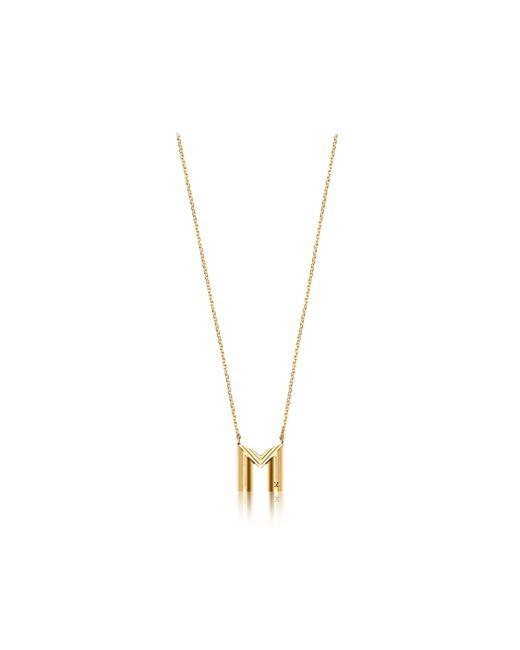 Louis Vuitton | Metallic Lv & Me Necklace, Letter M | Lyst