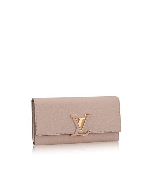 Louis Vuitton | Brown Capucines Wallet | Lyst