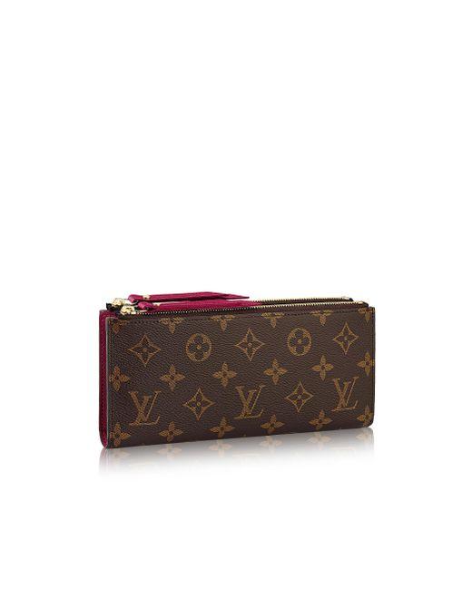 Louis Vuitton | Purple Adele Wallet | Lyst