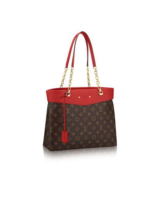 Louis Vuitton | Red Pallas Shopper | Lyst