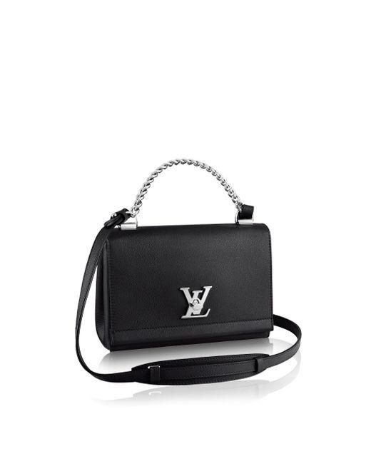 Louis Vuitton | Black Lockme II BB Leather Shoulder Bag | Lyst