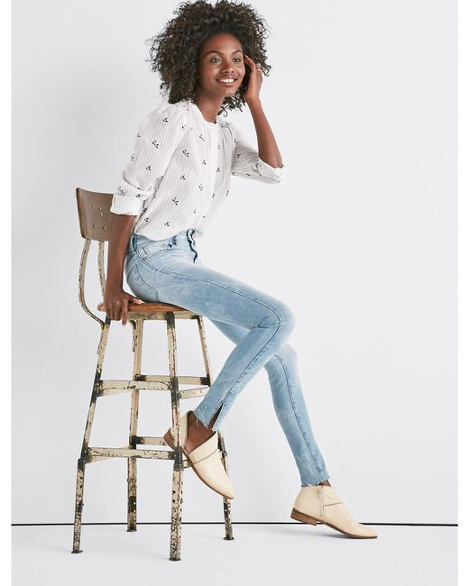 Lucky Brand - Blue Ava Mid Rise Skinny Jean With Vent - Lyst