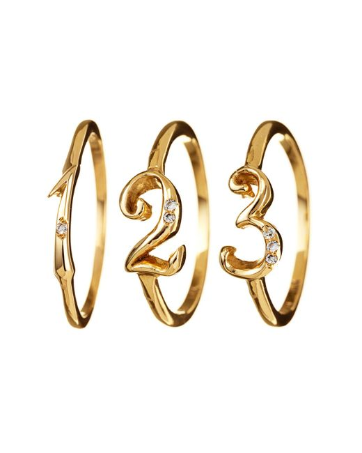 Lulu Frost   Metallic Code Number Ring Yellow Gold 18kt   Lyst