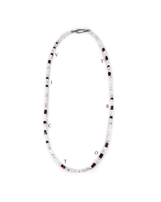Lulu Frost - Multicolor George Frost Morse Code Howlite & Tiger's Eye Necklace - Victory - Lyst