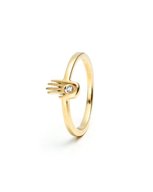 Lulu Frost - Metallic Code Palm Ring 18k Gold & Diamond - Lyst