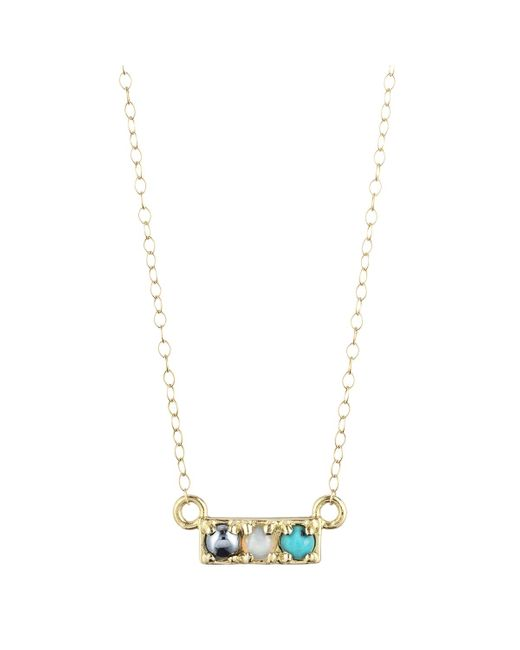 "Lulu Frost | Metallic Code ""hot"" Necklace - 14k Or 18k 