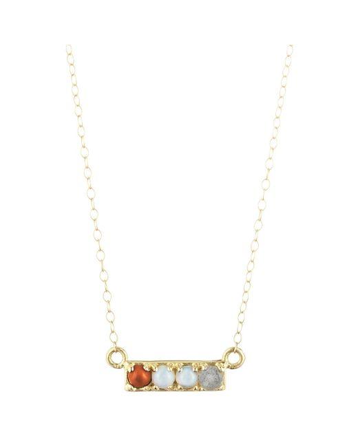 "Lulu Frost   Metallic Code ""cool"" Necklace - 14k Or 18k   Lyst"