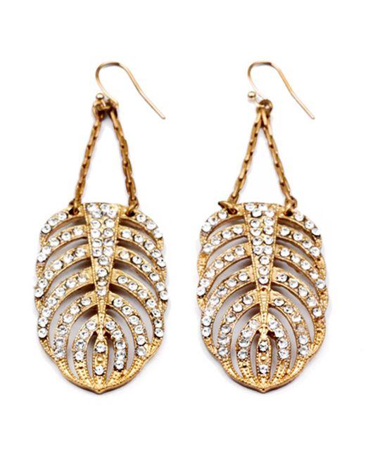 Lulu Frost | Metallic Goldtone Drift Earring - Large | Lyst