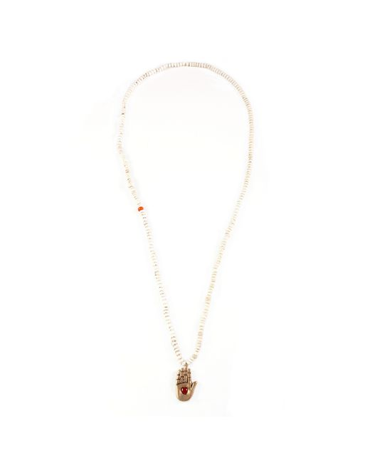 Lulu Frost | White George Frost G. Frost Beaded Loving Palm Pendant | Lyst