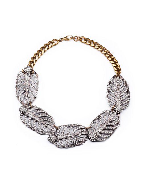 Lulu Frost | Metallic Silvertone Drift Statement Necklace | Lyst
