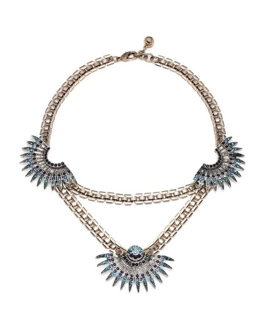 Lulu Frost | Metallic Beacon Necklace - Blue | Lyst