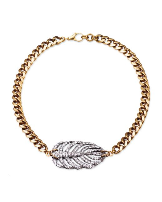 Lulu Frost | Metallic Silvertone Drift Necklace | Lyst