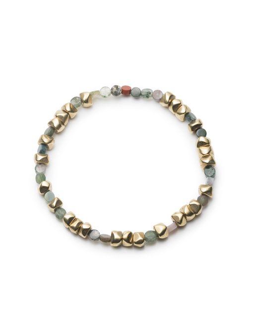 George Frost - Metallic Morse Code Gold & Jasper Bracelet - Luck - Lyst