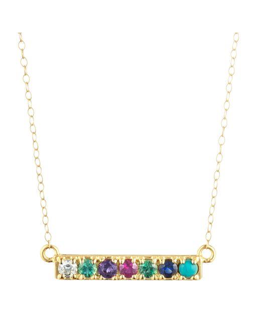 Lulu Frost - Metallic Code Word Dearest Necklace 18k Gold - Lyst
