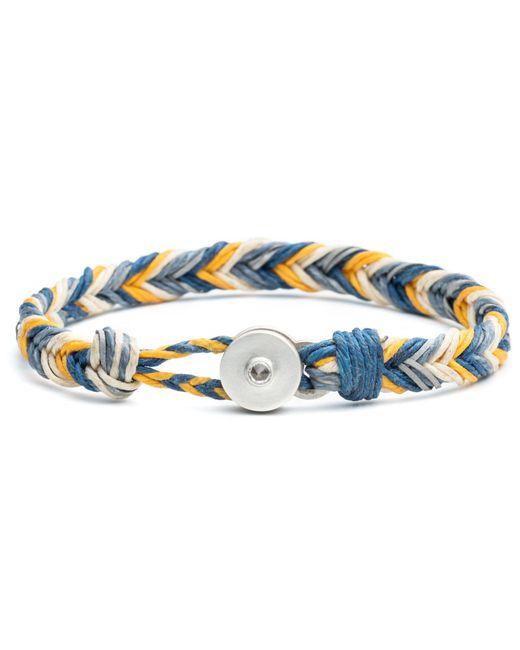 Lulu Frost - George Frost Woven Reflective Bracelet - Blue & Yellow for Men - Lyst