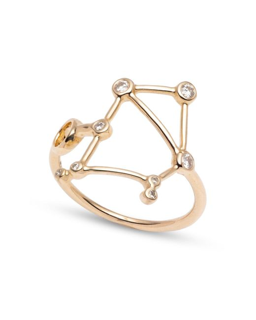 Lulu Frost - Metallic Zodiacs 14k & Diamond Libra + Air Ring - Lyst
